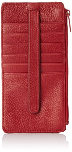 Buxton Hudson Pik-Me-Up Thin Card Holder, Dark red