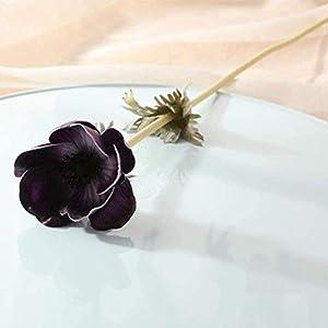 FSFF Artificial Flower Arrangement Artificial Flower Bouquets sea ??Anemone Flowers for Home Wedding Party Store DIY Decoration 5 Sticks-A2