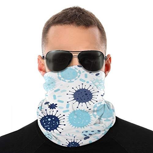 Pillow Socks Nahtlose Textur mit Bakterien und Keimen. Frauen Männer Vielfalt Kopftuch Verschiedene Kopftücher Multifunktionale Bandanas & Sturmhaube