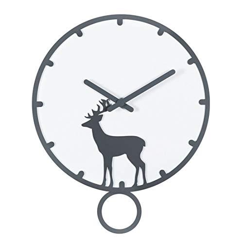 ASDZXC Horloge Murale Simple Avec Pendule Style Nordique Muet Stéréo Horloge 14 Pouces Pour Salon, Chambre, Bureau, Bureau(A)