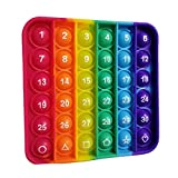 ANLKUJHF Rainbow Push Bubble Antistress Fidget Juguetes Anti Stress Reliever Silicona Juguete Divertido Niños Educativo Aprendizaje Sensorial Juguete para Aliviar el Autismo