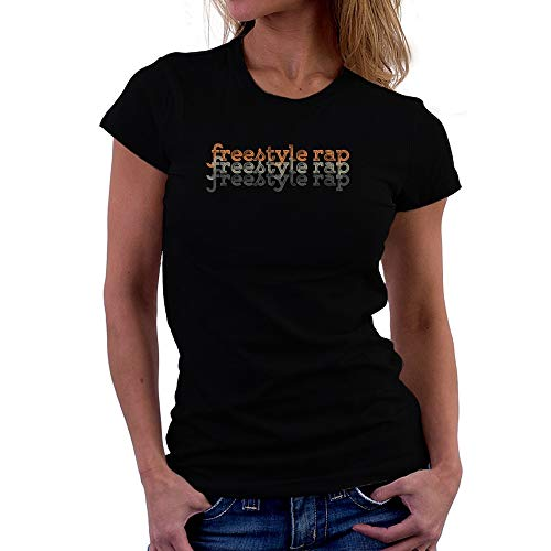 Teeburon Freestyle Rap Repeat Retro Camiseta Mujer
