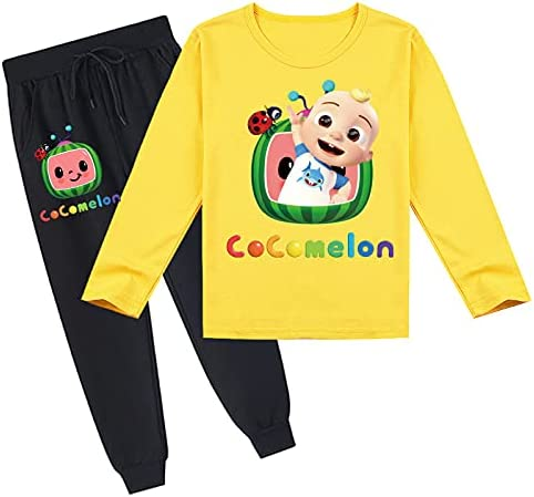 Youth Pullover Hoodies and Sweatpants Suit for Boys Girls 2 Piece Outfit Fashion Sweatshirt Set Jogger Pant Set