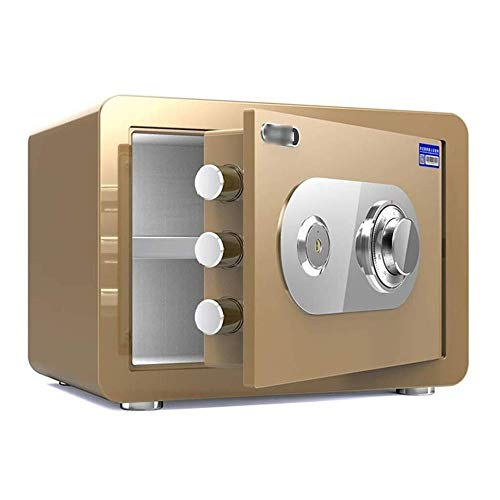 Sucastle Safe Cabinet Safes, Mechanical Password Safe, For ID Papers / A4 Documents/Laptop Computers/Jewels, 4 Style Wall Safes Safe (Color : Tyrant Gold)