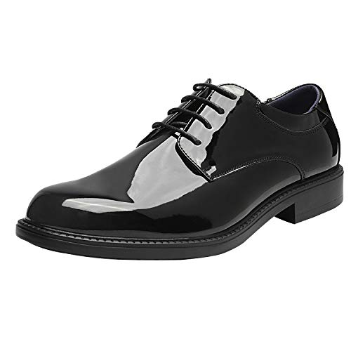 Patton Leather Black Oxford Shoes for Men