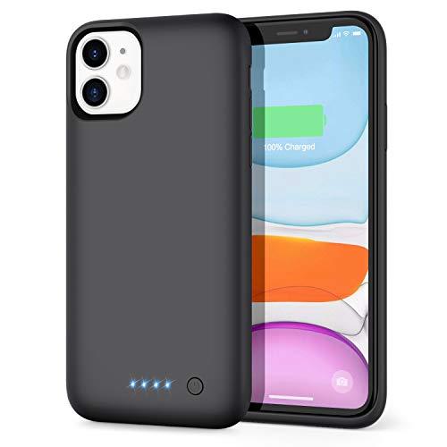 Funda Batería para iPhone 11, AOPAWA [6800mAh] Funda Cargador Portatil Batería Externa Ultra Carcasa Batería Recargable Power Bank Case para iPhone 11