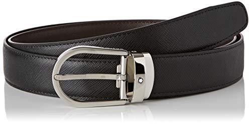 Montblanc Ejecutivo Reversible Cortado a la Medida-Cinturón, 3, Multicolor (Negro/Marrón 000), 120 (Tamaño del Fabricante:Única) para Hombre