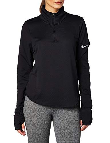 Nike Damen Sphere Element Laufoberteil mit Halbreißverschluss, Black/Reflective Silver, M