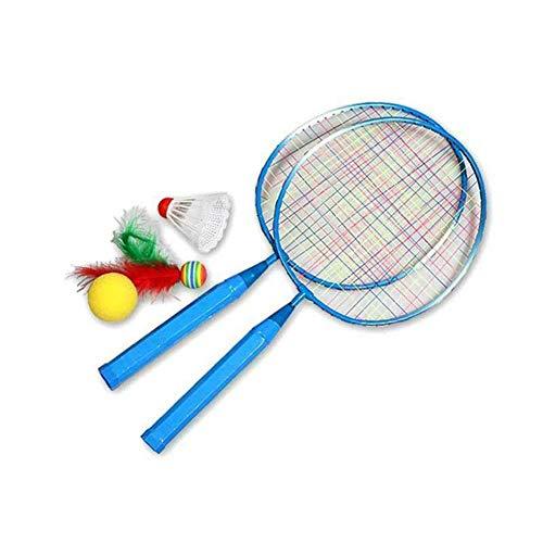 Relang Badmintonschläger Badminton Set für Kinder Mini Badminton Schlägerset Langlebiges Badminton Set mit 2 Schlägern, Ball für Indoor Outdoor Sport Kindertraining (Blau)