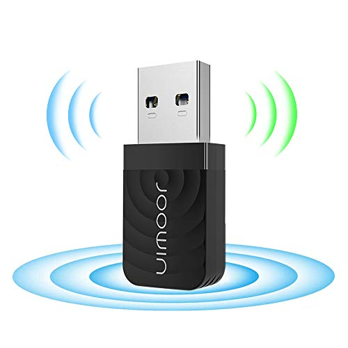 JOOWIN Adattatore WiFi USB 3.0 Dual Band Chiavetta WiFi 802.11 AC 1300Mbps (2.4G/400Mbps & 5G/867Mbps) Mini Dongle WiFi per Windows XP/7/8/8.1/10, MacOS 10.9-10.14