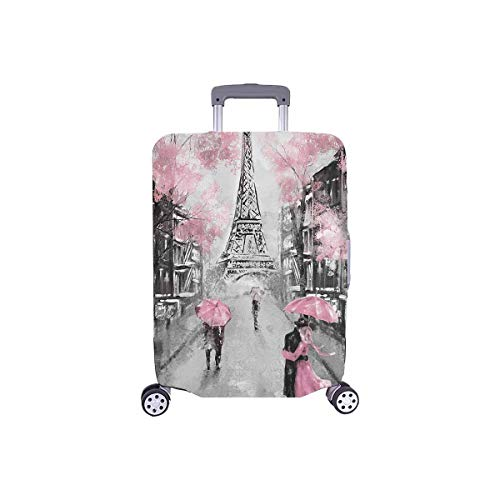 InterestPrint European France Paris Eiffel Tower Travel Luggage Cover Suitcase Protector Fits 26'-28' Luggage