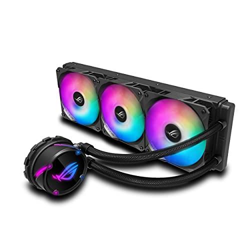 ASUS ROG Strix LC 360 RGB - Sistema de refrigeración líquida de CPU, Aura Sync RGB, Tubo de Goma Reforzado de 38 cm, Ventiladores ROG RGB optimizados