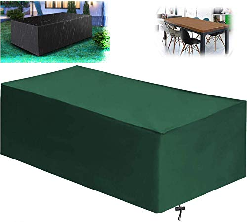 Garden Protective Cover,Garden Furniture Covers, Patio Furniture Covers Waterproof, Heavy Duty 420D Oxford Fabric Outdoor Rectangular Patio Table Covers, Anti-UV, Windproof, Garden Table Covers