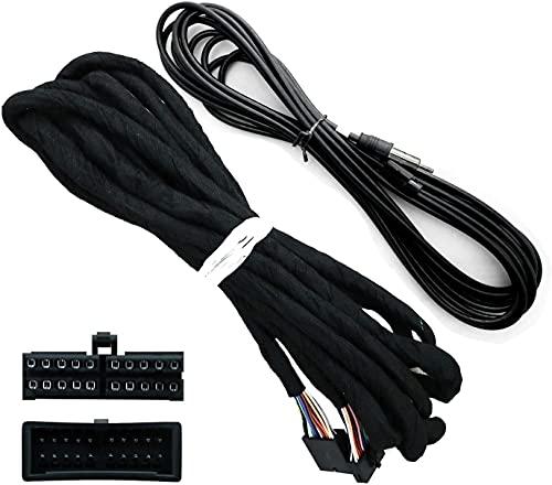 SWTNVIN 5,5 metros de extensión de cable de alimentación antena de radio para BMW 39/46/53 vehículo DVD GPS instalación de unidad principal (solo radio adecuada)