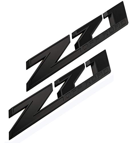 2Pack 10.3 Inch Z71 Off Road emblems Decals 3D Badge Compatible for hevy Silverado Colorado GMC Sierra (Black)