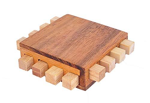 Logica Juegos Art. Procesador - Rompecabezas de Madera - Dificultad 3/6 Difícil - Colección Leonardo da Vinci