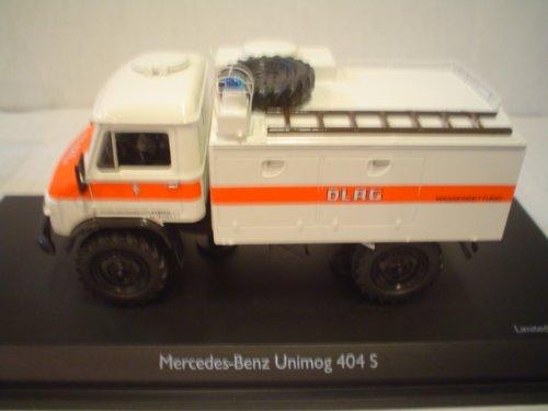 Dickie-Schuco 450339600 - Schuco - MB Unimog 404 S DLRG 1:43 TLF 8, weiß