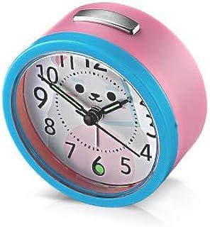 HSXOT Dormitorio En Casa Sueño Nocturno Mesa De Luz Reloj Redondo Mini Portátil Multifunción Reloj Despertador De Estudiantes 1