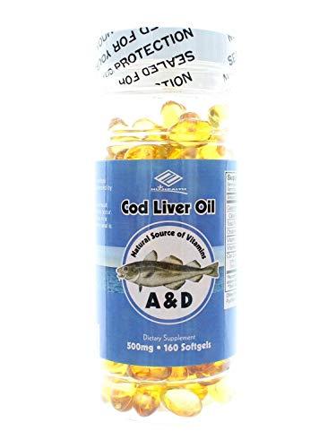fish liver oils Cod Liver Oil 500 Mg - 160 Softgels