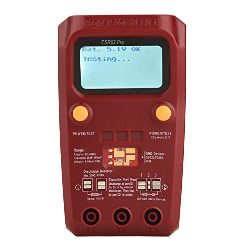 BSIDE ESR02 Pro Digital Transistor Tester SMD Chip Componente Medidor Multímetro Inductancia (sin batería)