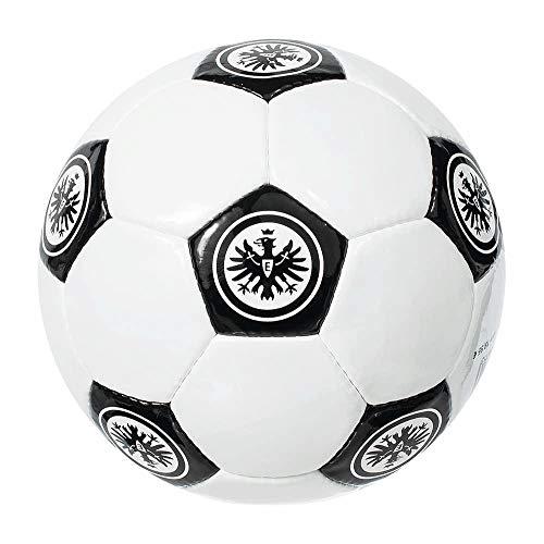 Eintracht Frankfurt Fußball - Retro - weiß, Ball Oldschool Gr. 5 SGE - Plus Lesezeichen I Love Frankfurt