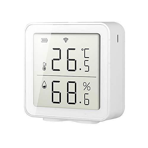 kekison Thermometer Wifi Wlan Drahtloses Innenthermometer Hygrometer Digital Innen und Außen Smart Thermo-Hygrometer Kann mit Einem Smartphone Verbunden Werden