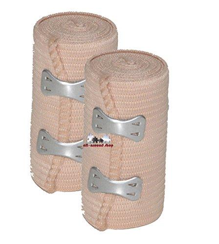 2 Stück all-around24® Elastikbandage Bandage Sportbandage Stützbandage Sportbinde