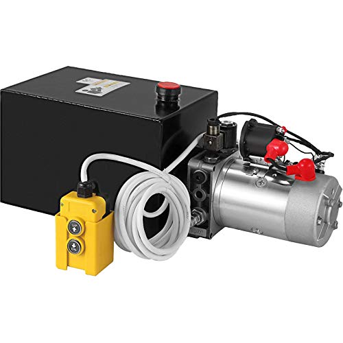 Mophorn 15 Quart 50Hz 2.2KW 220V Car Lift Hydraulic Power Unit Auto Repair Double Phase Motor Automotive Hydraulic Pump Dump Trailer Vehicle Mounted Lifter Unit for Auto Hoist 2 and 4 Post Lift