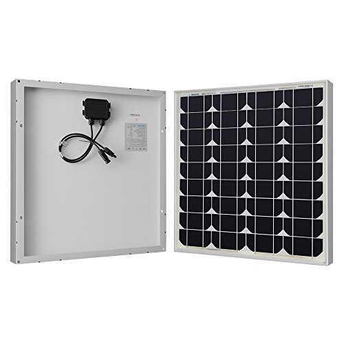 Renogy 50W 12V Monocrystalline Solar Panel High Efficiency Module PV Power for Battery Charging...
