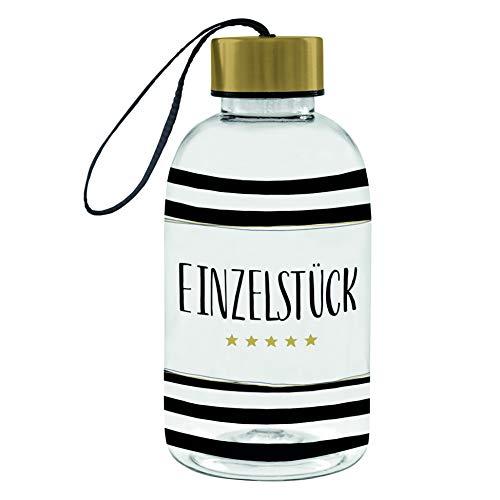 MIK funshopping Design - Botella de plástico ligero sin BPA, con tapón de rosca y correa de transporte, 500 ml (pieza individual)