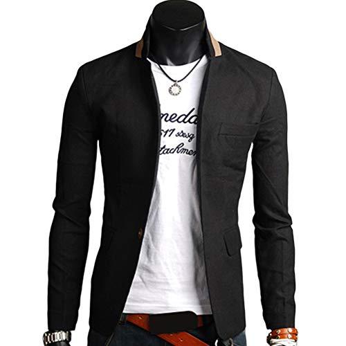할인 할인 145 남자 솔리드 컬러 옷깃 칼라 버튼 포켓 장식 비즈니스 코트 블레이저