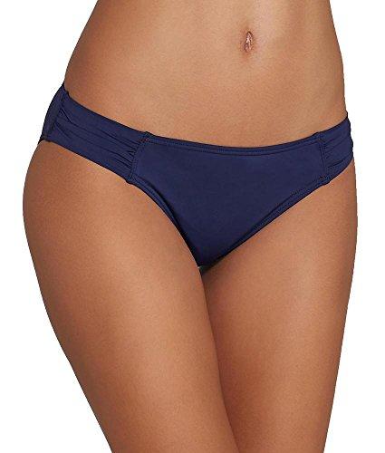 Tommy Bahama Pearl Solids Side Shirred Bikini Bottom, M, Mare