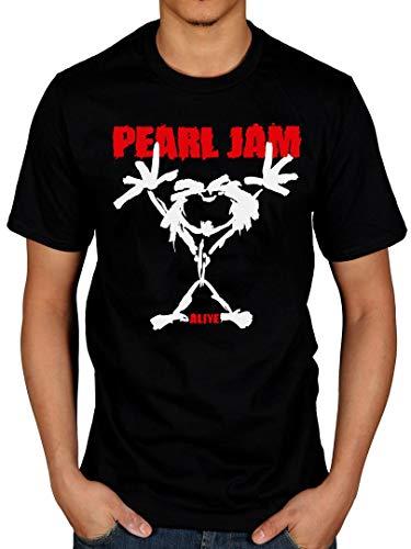 Camiseta oficial Pearl Jam Stickman para hombre