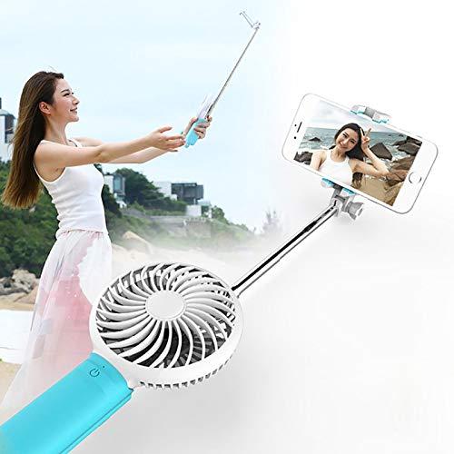 La selección de Cici 2 en 1 Cable Portable del Ventilador de refrigeración del Ventilador Ajustable con Tres Velocidad del Viento + Cable controlado por Holder Monopod Extensible Plegable portátil de