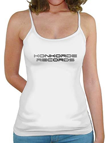 latostadora - Camiseta de Tirantes Konkorde para Mujer Blanco S