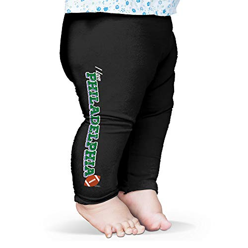 Twisted Envy Baby Pants I Love Philadelphia American Football Black 0-3 Months