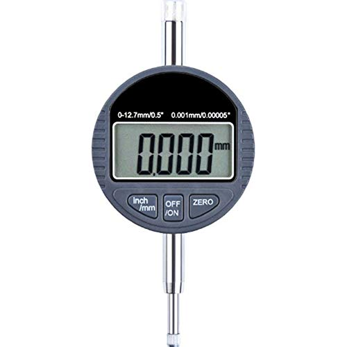 Dongbin Electronic micrometer, Electronic Display, Digital Probe With Large LCD display, dial gauge with inch/Metric conversion to measure,Silver