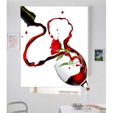 Estor Iroa Digital Cocina Vino y Rosa ¡ESTORES ENROLLABLES TRANSLUCIDOS! (150X170, Tejido Translucido)