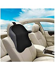 Car Neck Pillow 3D Car Auto Seat Head Supports Memory Cotton Head Pillow Car Seat Head Neck Rest Massage Memory Foam Cushion Support Headrest Comfortable (Color : Black)