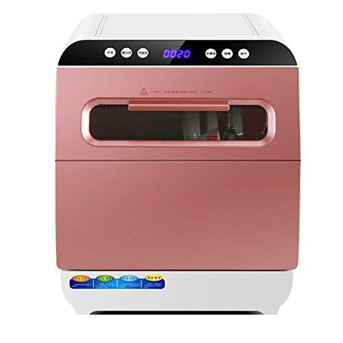 KDMB KitchenHousehold Automatic Dishwasher Freistehender Geschirrspüler mit 6 Gedecken - Rotationsspray 360 ° Azimut-Touch-Steuerung, LED-Anzeige, energieeffizient, leicht zu reinigen