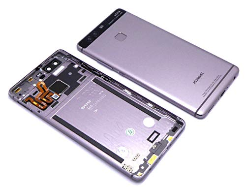 Original Huawei Akkudeckel titanium-grey / titan-grau für Huawei P9 (Akkufachdeckel, Batterieabdeckung, Rückseite, Back-Cover)