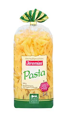 Jeremias Bandnudeln 8 mm, Pasta - Hergestellt aus reinem Hartweizengrieß, 4er Pack (4 x 500 g Beutel)