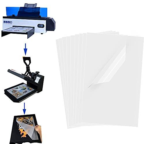 A3 DTF Transfer Film,PET Heat Transfer Paper for DYI Direct on T-Shirts/Onesies/Socks/Bags A3 (11.7' x 16.5' / 297mm x 420mm) (100 PCS)