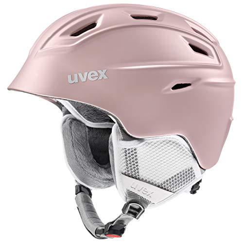 uvex Unisex– Erwachsene, fierce Skihelm, rosegold mat, 55-59 cm