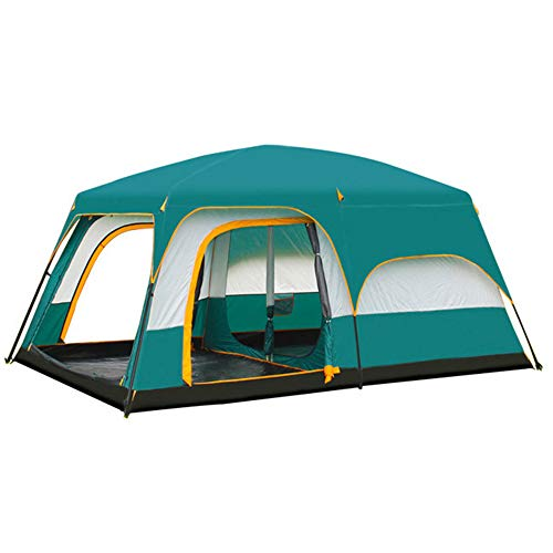 NANE Camping Tent, 8 to 12 man Festival tent, large Dome Tent with full standing head height, 100% waterproof Family Camping Tent, Two rooms and one living room,medium