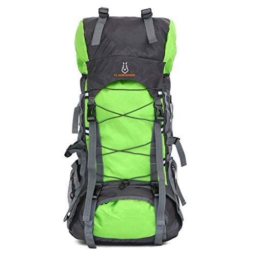 60L Waterproof Dry Bag Outdoor Travel Camping Mountaineering Hiking Backpacks Green 50-70L