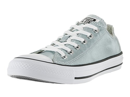 Converse Unisex Chuck Taylor All Star Ox Low Top Classic Metallic Glacier/White/Black Sneakers - 6 B(M) US Women / 4 D(M) US Men