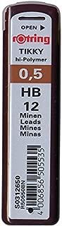 rOtring Tikky Mechanical Pencil Lead 0.5mm HB 12 Lead (R505 508 HB)