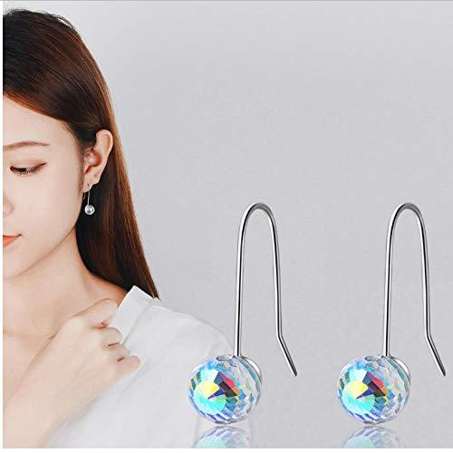 NOBRAND Pendientes de Bola de Cristal para Mujer Corea Fiesta joyería Mujer