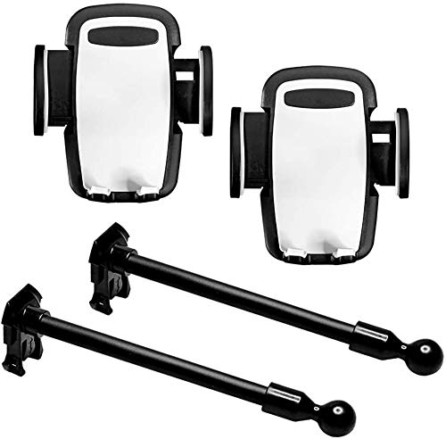 Titan Dash Mount Accessory Kit - Includes 2 Cell Phone Holders and 2 Flexible Ball-Mounted Goosenecks - Fits Multi-Purpose Dash Mount Designed for Jeep JK Models 2011-2018 - Rugged and Secure